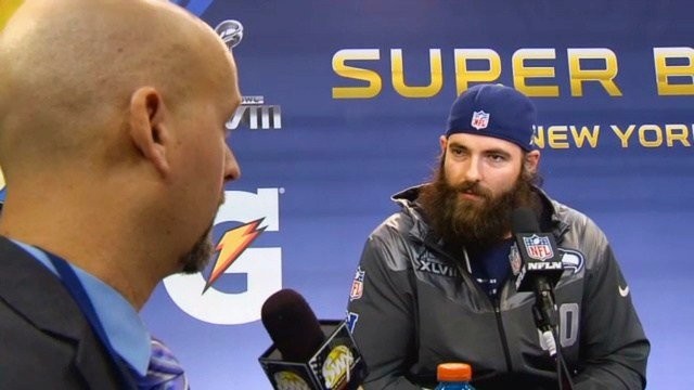 SWX's Sam Adams posing a few questions to Seahawks center Max Unger.