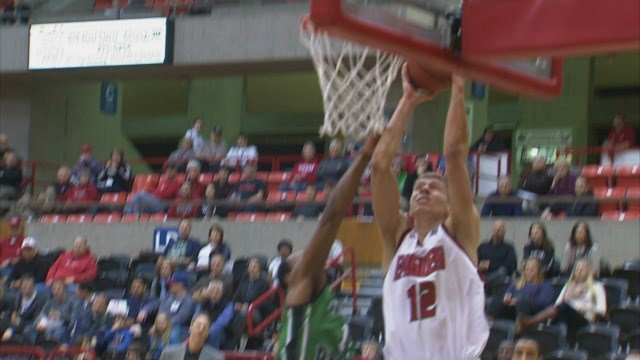 Martin Seiferth had 6 points and 4 rebounds in the Eags loss to UND on Thursday.