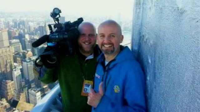 Sam Adams and Josh Godfrey got a good look of the Big Apple from the 103rd floor of the Empire State building yesterday.