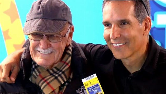 SWX's Sam Adams stumbles upon Stan Lee and Todd McFarlane at Toys R Us in NYC.