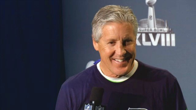 Watch these raw interviews with Seattle Seahawks head coach Pete Carroll and his players.