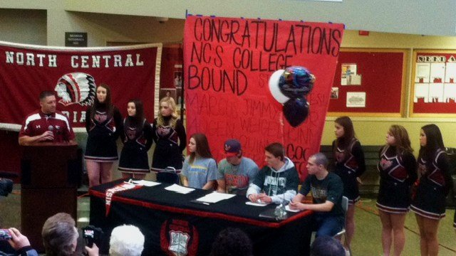 North Central athletes sign their Letters of Intent on National Signing Day, Wednesday, Feb. 5.