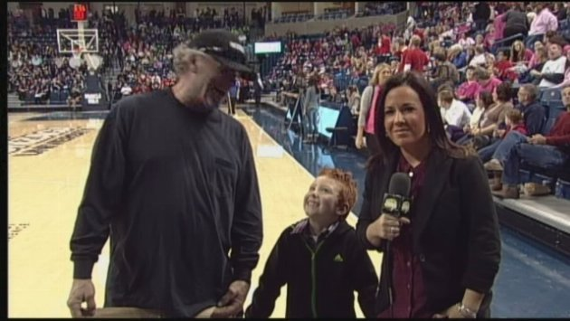SWX's Michelle Dapper caught up with Haiden Palmer's special guest, Crazy, at halftime of the Gonzaga women's basketball game vs, LMU on Saturday.
