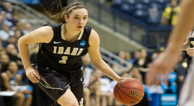 Christina Salvatore led the Vandals with 17 points and 7 rebounds to the win over Utah Valley on Saturday.