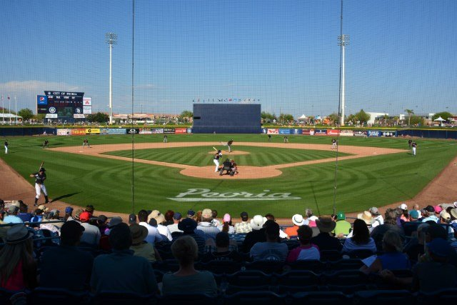 Just one of the many beautiful photos from Peoria, AZ, where the Mariners play during spring training. (Photo: Reed Schmitt)