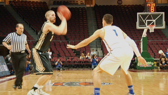 Stephen Madison led the Vandals with 26 points as they defeated UMKC to advance to the WAC Semis.