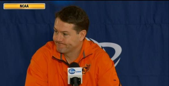 Oklahoma State coach Travis Ford gave the Zags accolades but misprounced their school's name