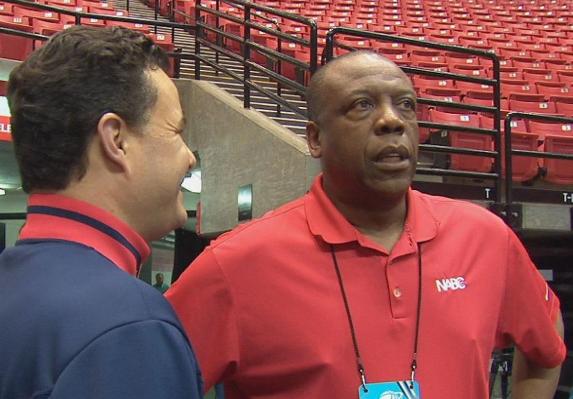 Ernie Kent at the NCAA Tournament in San Diego, Calif. before he was hired as WSU's new head basketball coach.