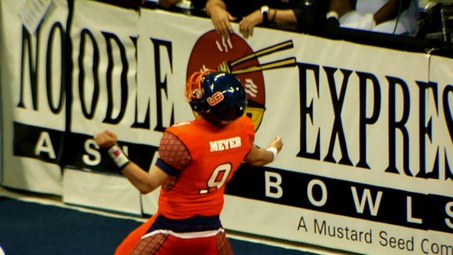 Erik Meyer and the Shock hope they'll be celebrating more than their fair share of touchdowns this weekend.