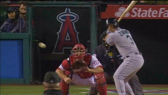 Mike Zunino was just one of the Mariners who homered in the series finale with the Angels on Wednesday.