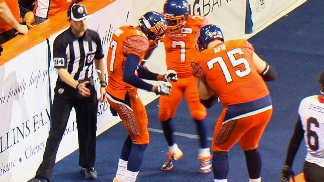 Patrick Afif brings experience and life to the Spokane Shock offensive line.