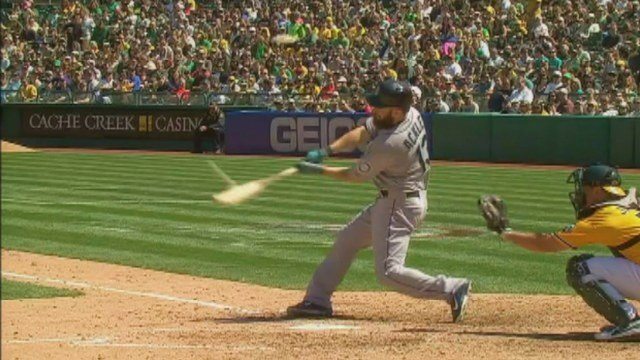Dustin Ackley's 2-run bomb in the fifth inning was all King Felix needed to beat the A's on Saturday.