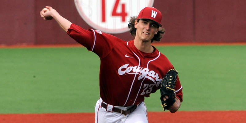 Tanner Chleborad tossed a great game to help the Cougars take game two of three from Cal on Saturday. (Photo: WSU Athletics)