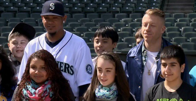 Felix Hernandez and Macklemore have joined forces for the #ChangeTheGame campaign.