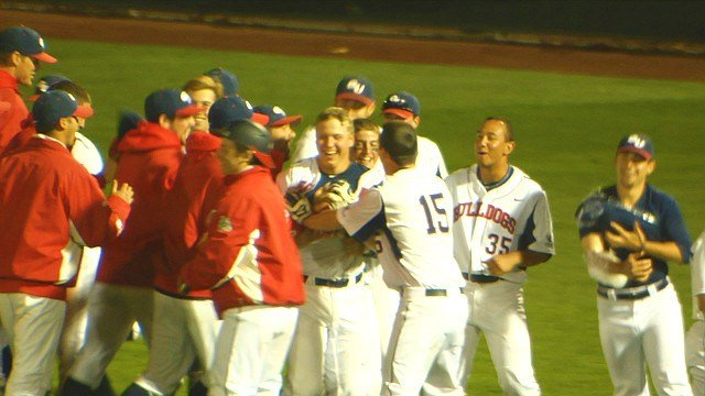 Nick Brooks' pinch hit walk-off single gave the Gonzaga baseball team a reason to celebrate.