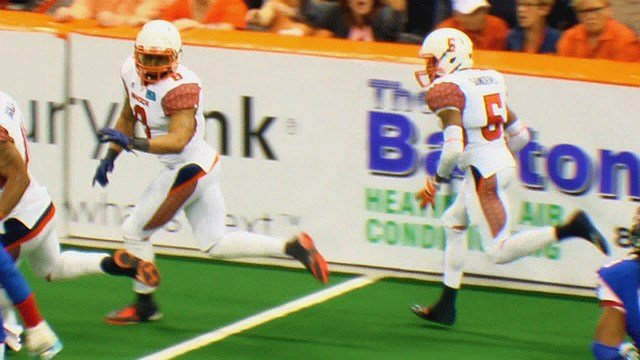 Terrance Sanders' pick six changed the momentum of the game and led the Shock to victory over Portland on Saturday.