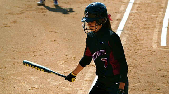The Whitworth softball team fell in a close one at the NWC Tournament opener on Friday, April 18.