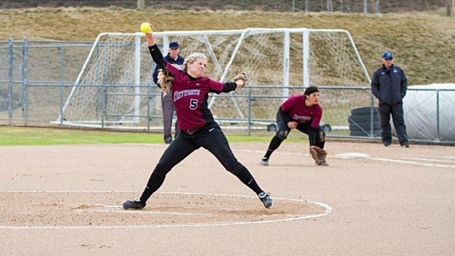 The Whitworth Softball team was eliminated from the NWC Tournament at the hands of Pacific.