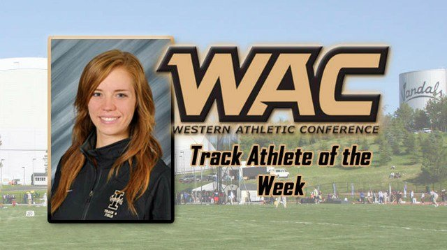 Alycia Butterworth earned her second-straigh WAC Track Athlete of the Week honor on Tuesday, April 22. (Photo: Idaho Athletics)