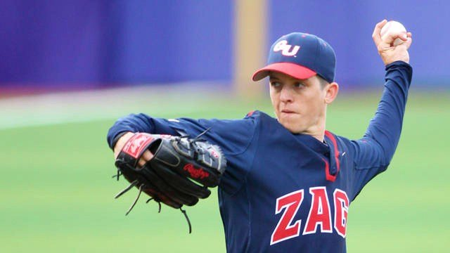Gonzaga's Will Abram shutdown the Cougars over seven innings, allowing only one earned run, to lead his Zags to the win in Pullman. (Photo: Gonzaga Athletics)