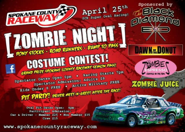 Zombie Night will hit the Spokane County Raceway this weekend!