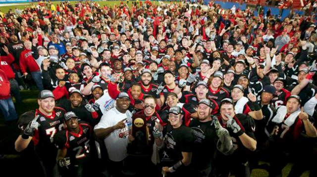 The 2010 EWU Football team has made the cut at No. 5 in the Big Sky Conference's top-50 moments. (Photo: EWU Athletics)