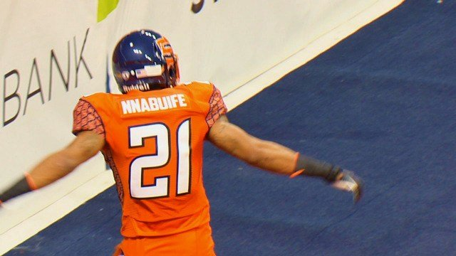 The Shock's newest defensive back Bryant Nnabuife has denied many of the AFL's receivers this season.