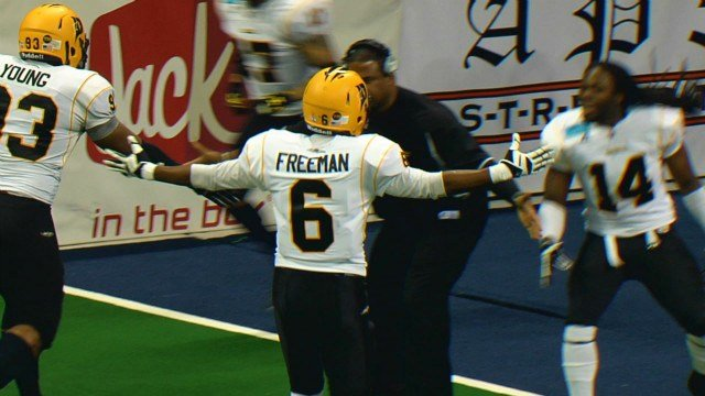 Brandon Freeman intercepted two passes and the Power cut Spokane short at the Veterans Memorial Arena on Friday night.