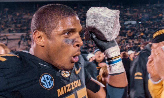 Michael Sam became the openly-gay player to be drafted in NFL history when St. Louis selected him in the 7th round on Saturday, May 10.
