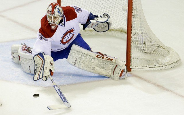 Former Chief goalie Dustin Tokarski finished with 35 saves to help lead Montreal past the Rangers on Thursday night. (AP Photo)