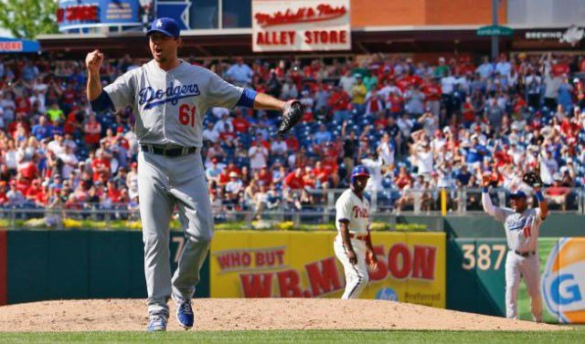 Josh Beckett threw the first no-hitter of his career and he first in the MLB this season on Sunday. (AP Photo/Matt Slocum)