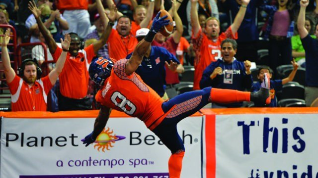 Terence Moore's TD off of James Ruffin's sack and forced fumble gave the Shock the boost they needed to close out Portland on Friday night. (Photo: Spokane Shock)