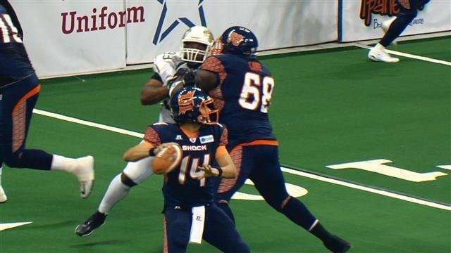 Brian Zbydniewski and the Shock will look to return the favor that the SaberCats gave them at the Arena a few weeks ago.