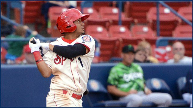 Eduard Pinto led the Indians with four RBI in a 7-3 win over Eugene on Opening Night. (Photo: Spokane Indians)