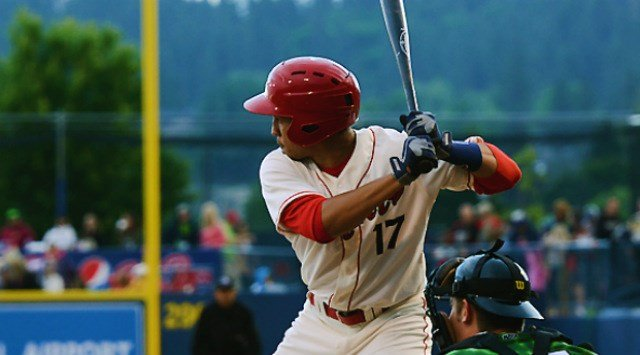 Luke Tendler won the Indians Home Run Derby and it was his blast that helped Spokane defeat Eugene on Saturday. (Photo: Spokane Indians)