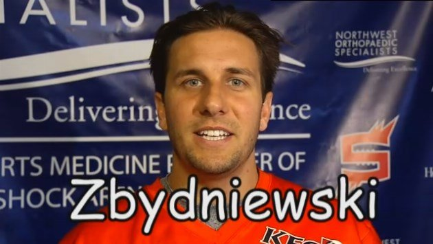 SWX gets some of Brian Zbydniewski's Shock teammates to try and spell his last name.
