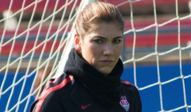 Hope Solo's has 152 caps with the U.S. Women's National Team but was recently left out of the starting lineup vs. France on June 19th. (Photo: Wikipedia)
