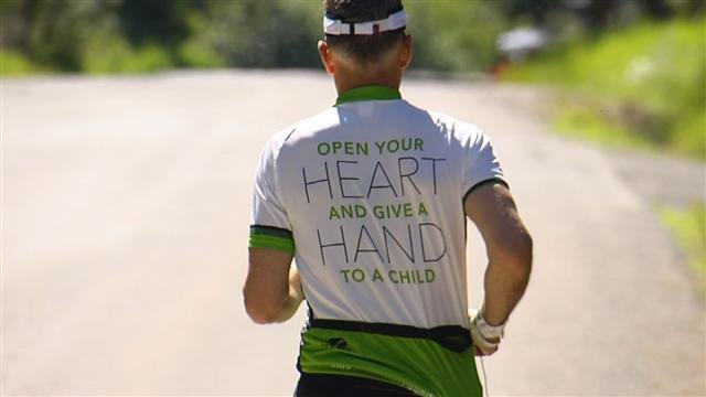 Tom deTar isn't competing in IRONMAN this weekend for himself, but for a child he knew and the children he'll never meet that need his help.