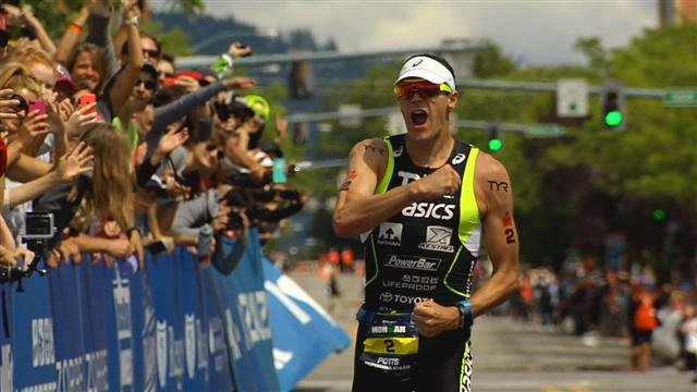 Andy Potts took his second IRONMAN Coeur d'Alene with a finsih of 8:25:44.