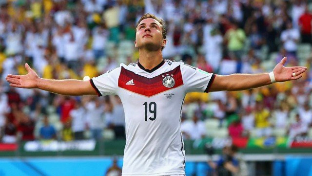 Just like Rio's Christ the Redeemer statue, Mario Gotze was able to bear the weight of a nation and bring home Germany's first World Cup since 1990. (Photo: Getty Images)