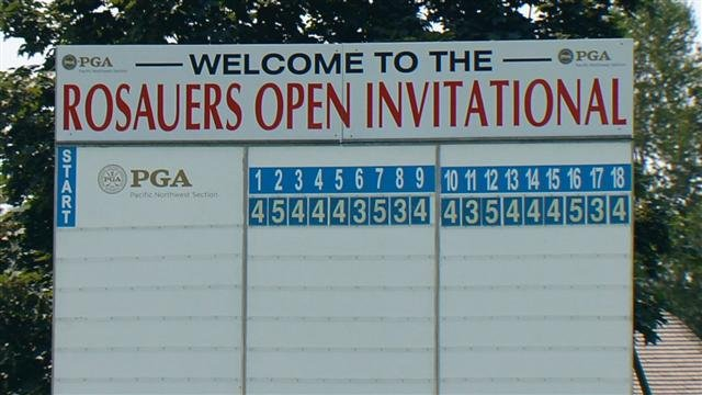 Results from the first day of the Rosauers Open Invitational Pro-Am.