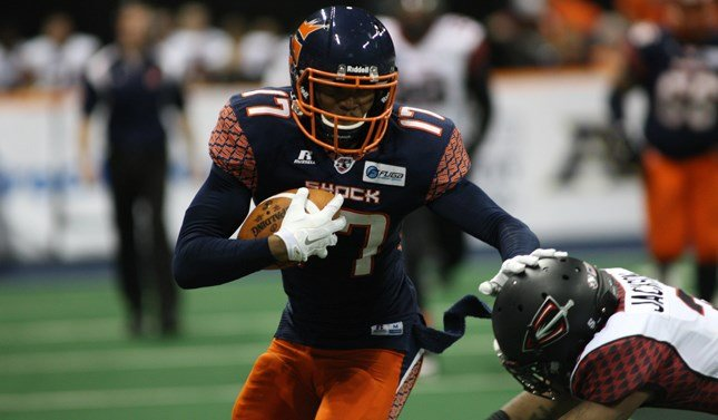 Adron Tennell visited SWX to talk about the Shock's upcoming test vs. Portland. (Photo: Spokane Shock)