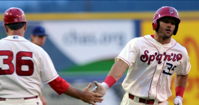 Zach Cone stayed hot to help the Indians to a huge victory over Everett on Saturday night. (Photo: Spokane Indians)