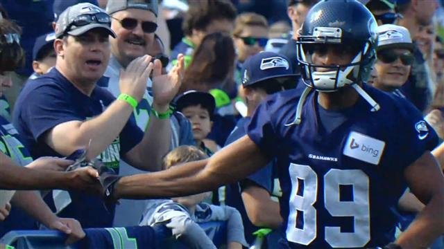 Doug Baldwin and the Seahawks kicked off their 2014 training camp earlier today.