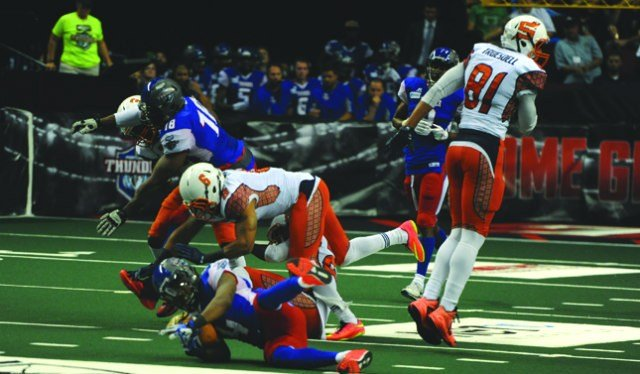 The Shock pulled out a late victory to win their finally game of the season vs. Portland on Saturday. (Photo: Shock)