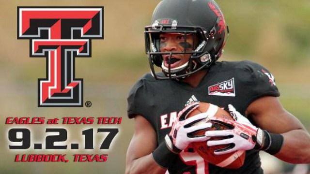 Eastern football will face Texas Tech in the 2017 season.