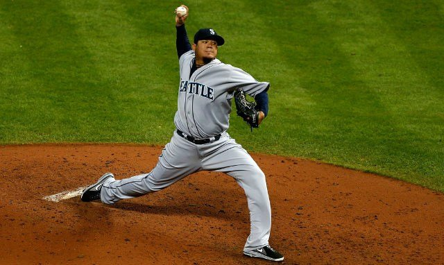 Felix Hernandez set his own record in a losing effort in Cleveland on Wednesday night. (Photo: Zimbio)