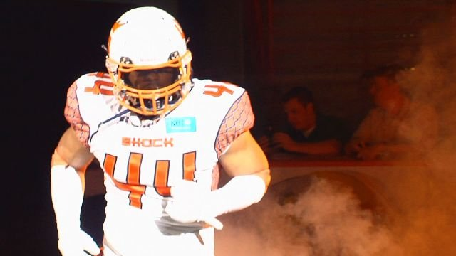 James Ruffin set the Shock's franchise record for sacks and was named the AFL's defensive lineman of the year on Tuesday.