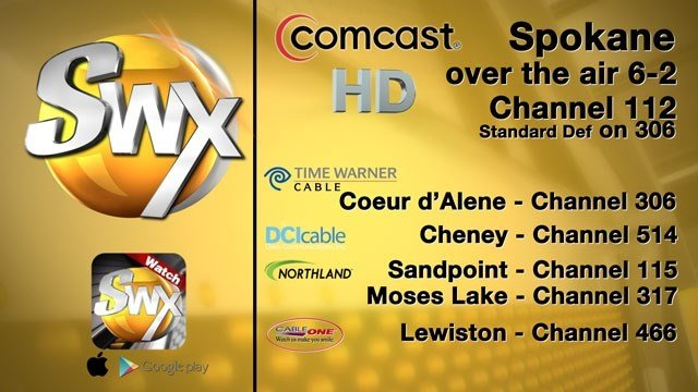 SWX-TV will now be broadcast in HD in the Spokane market over the air and on Comcast Cable.