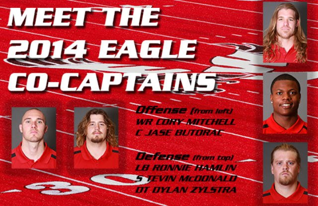 EWU football has announced its five co-captains for the 2014 season. (Photo: EWU Athletics)